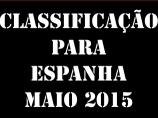 Imagem da notícia: Classificação para Espanha - Maio 2015